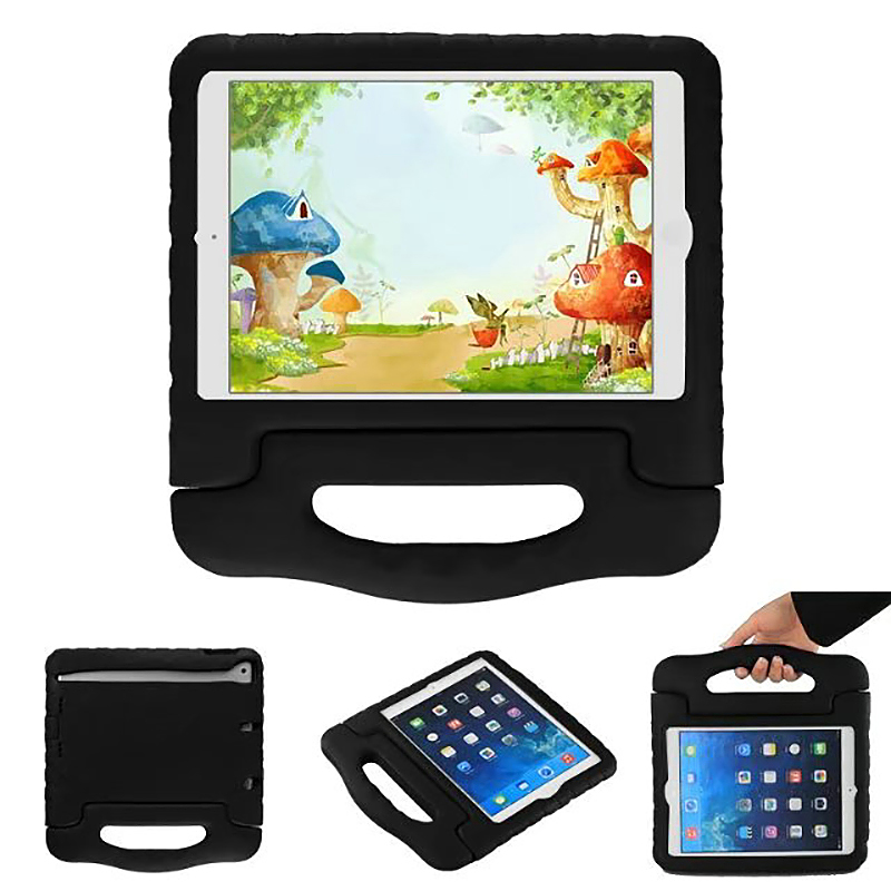 Shockproof Handled EVA Foam Stand Case for Apple Tablets iPad Mini 4 - Black