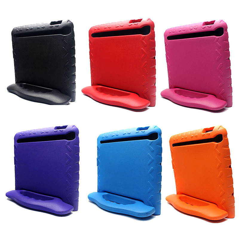 Tough Shockproof iPad Protective Case EVA Foam Handled Case Cover for iPad Air Air 2 - Black