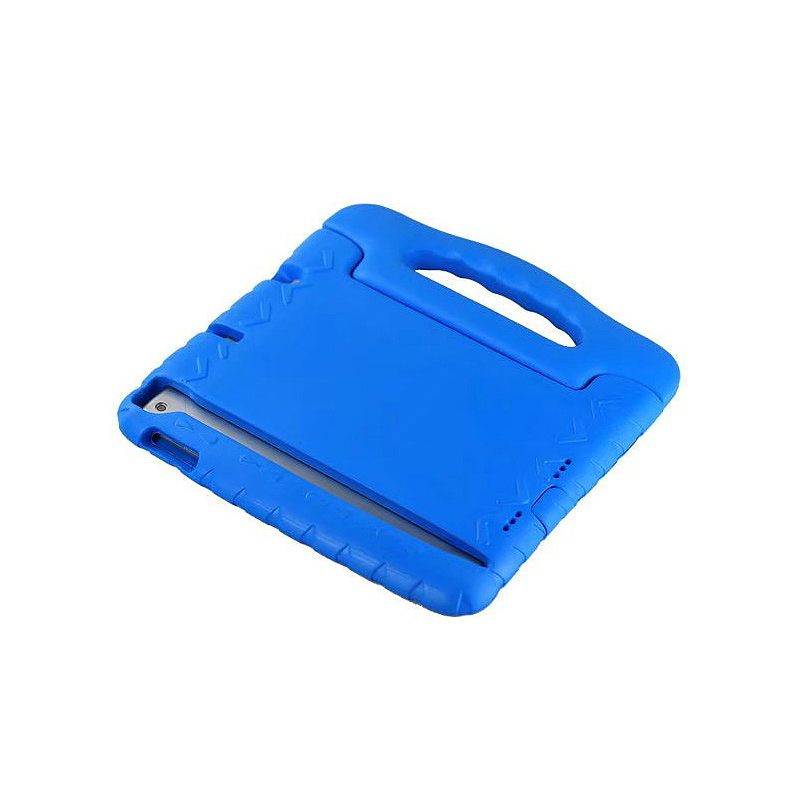 Tough Shockproof iPad Protective Case EVA Foam Handled Case Cover for iPad Air Air 2 - Blue