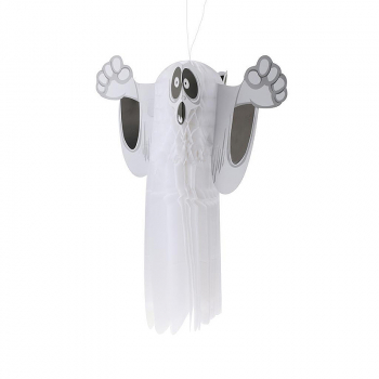 Halloween Paper Ghost Ornaments Hanging Ghost Pendant Party Decorations - Small Size