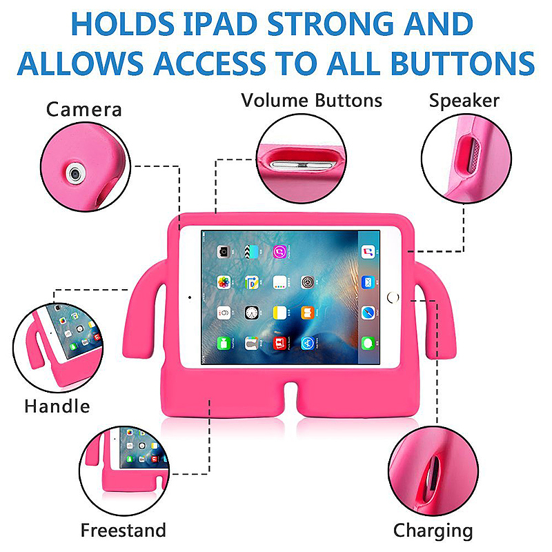 Universal Shockproof EVA Foam Stand Tablet Case for iPad Mini 1/2/3/4 - Rose Red