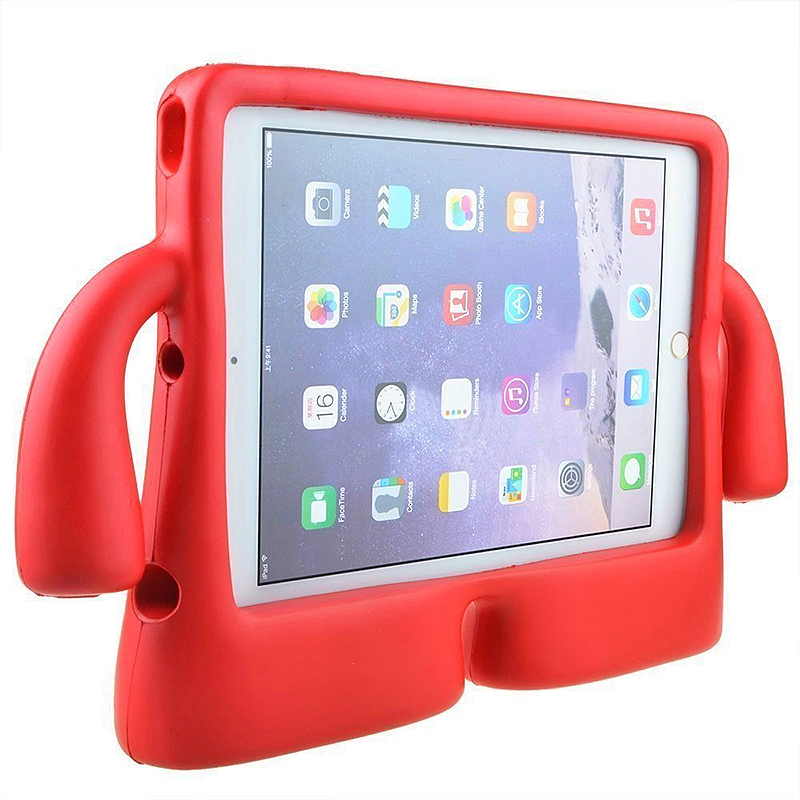 Universal Shockproof EVA Foam Stand Tablet Case for iPad Mini 1/2/3/4 - Red