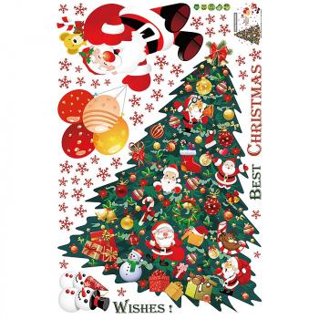 Xmas Wall Window Stickers Christmas Tree Home Decor Santa Claus Wall Decals - SK9116