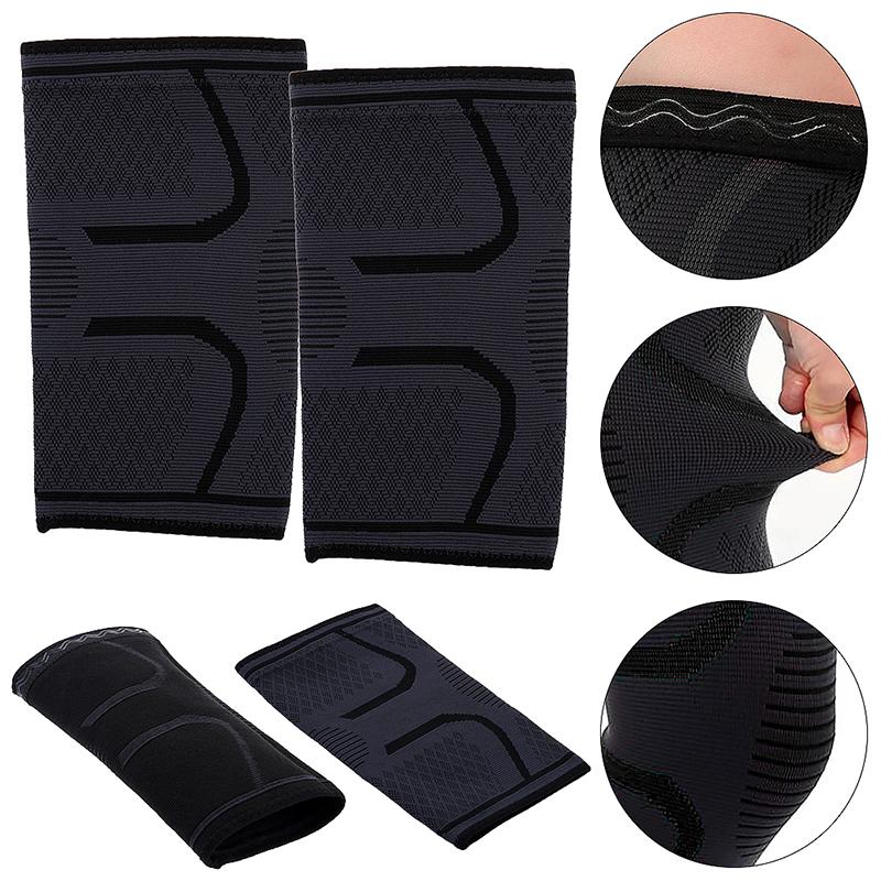 1 Pair Self-Heating Anti-slip Knee Support Pad Arthritis Brace Protective Belt Black - Size S