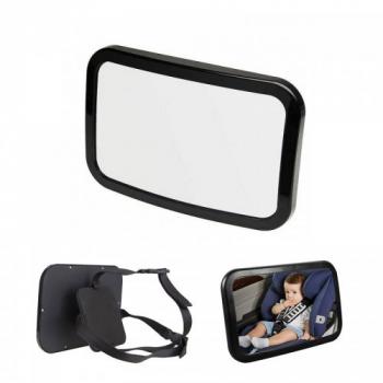 Adjustabe Wide View Baby Child Back Seat Car Safety Mirror Headrest Mount