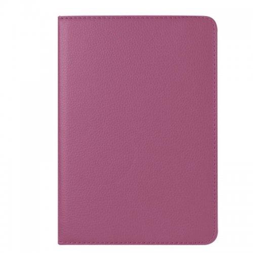 360 degree Rotating PU Leather Flip Stand Case Cover Skin for iPad Mini 1/2/3 - Purple