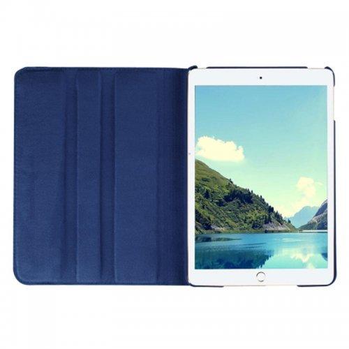 360 degree Rotating PU Leather Flip Stand Case Cover Skin for iPad Mini 1/2/3 - Dark Blue