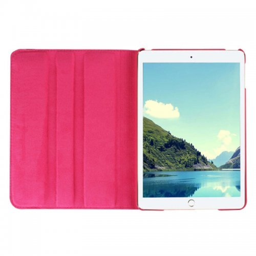 360 degree Rotating PU Leather Flip Stand Case Cover Skin for iPad Mini 1/2/3 - Rose Red