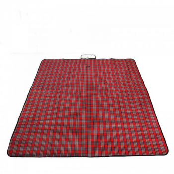 Picnic Blanket Car Travel Camping Outdoor Mat Rug with Carry Handle - Red
