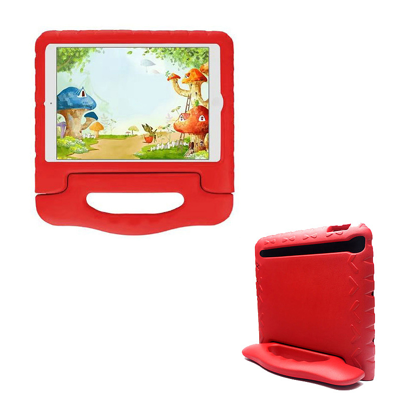 Shockproof EVA Foam Handle Stand Case Cover for Apple iPad 2/3/4 - Red