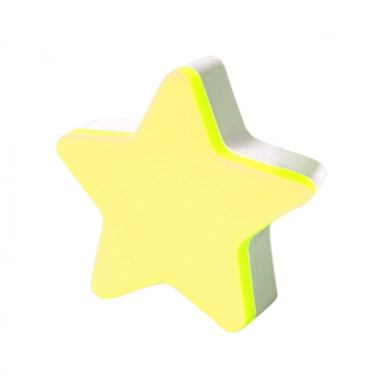 LED Sensor Control Light Bedroom Decor Wall Night Light EU Plug Star Light - Yellow