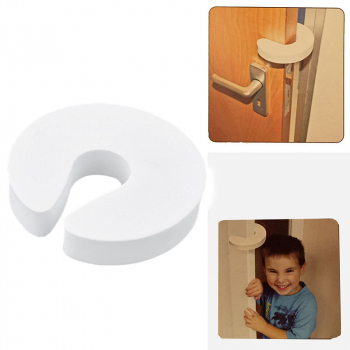 Foam Door Guard Stopper Safety Finger Protector - White