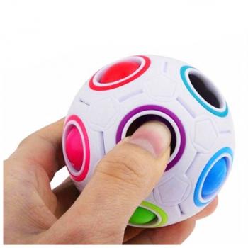 Magic Rainbow Ball Fidget product 3D Puzzles Speed Cube Football Brain Teaser Funny Gift