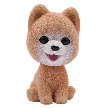 Cute Simulation Shaking Head Dog Puppy Toy Car Decoration Ornaments - Bomei