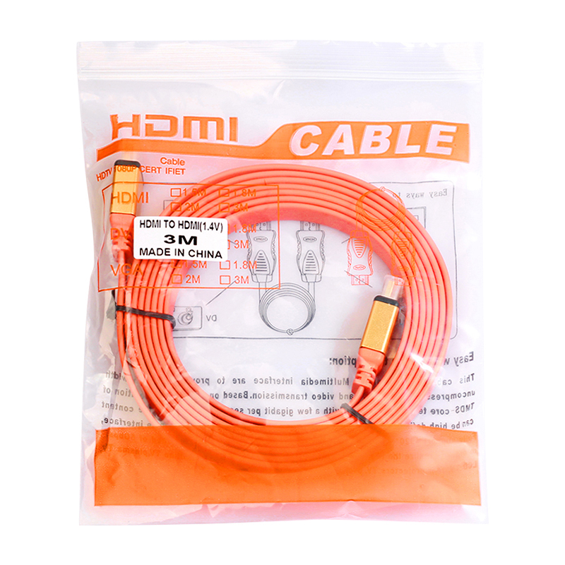 4K 1080P HDMI Male to Male Video Converter Cable Adapter - 3M