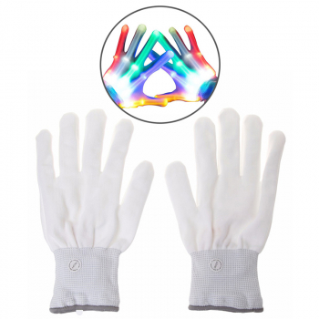 1 Pair Light Up LED Colorful Flashing Lighting Gloves for Festival Party Shows - Style 1