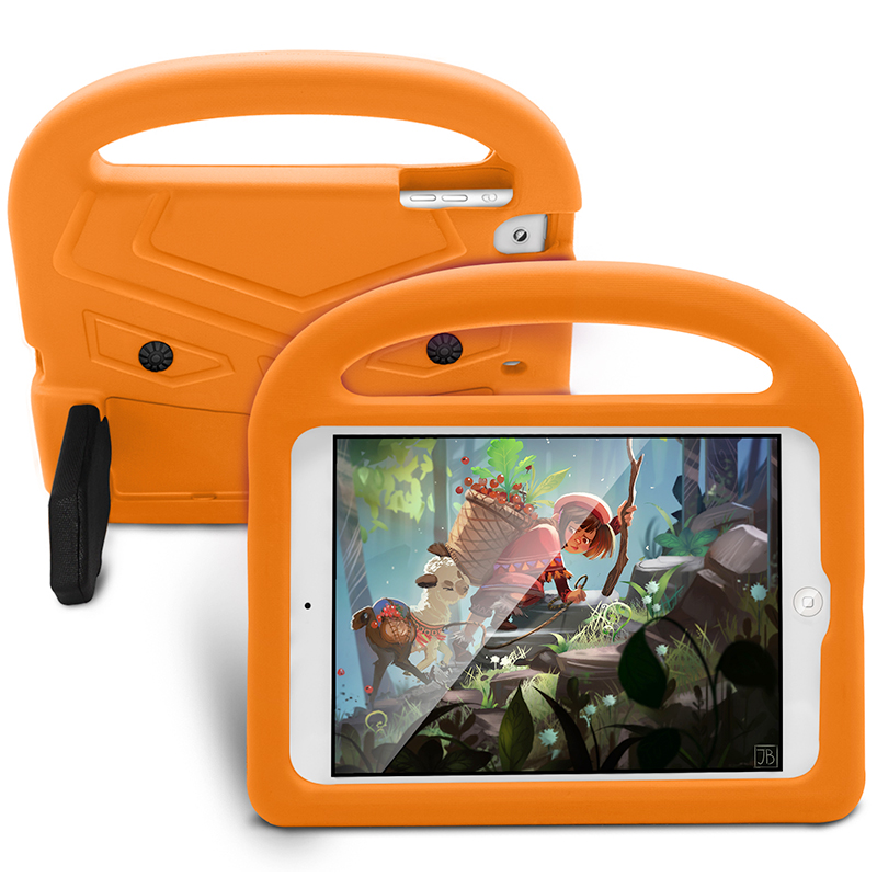 Shockproof EVA Foam Stand Case Cover for Apple iPad Mini 2/3/4 - Orange