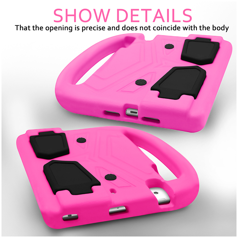 Shockproof EVA Foam Stand Case Cover for Apple iPad Mini 2/3/4 - Pink