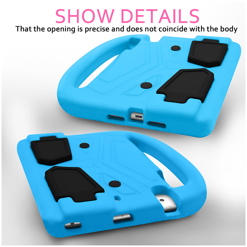Shockproof EVA Foam Stand Case Cover for Apple iPad Mini 2/3/4 - Blue