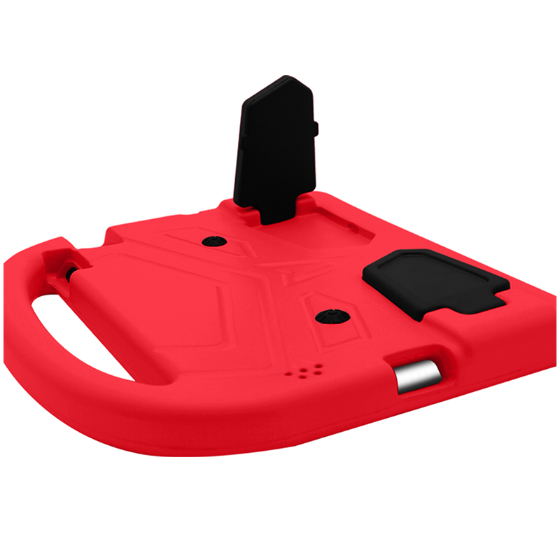 iPad 2/3/4 Shockproof EVA Foam Case Back Cover with Kickstand - Red