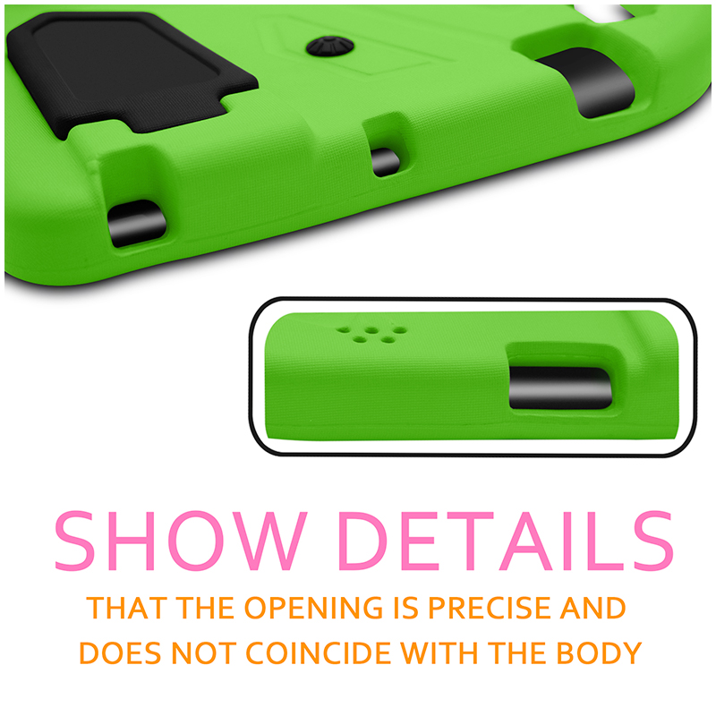 iPad 2/3/4 Shockproof EVA Foam Case Back Cover with Kickstand - Green
