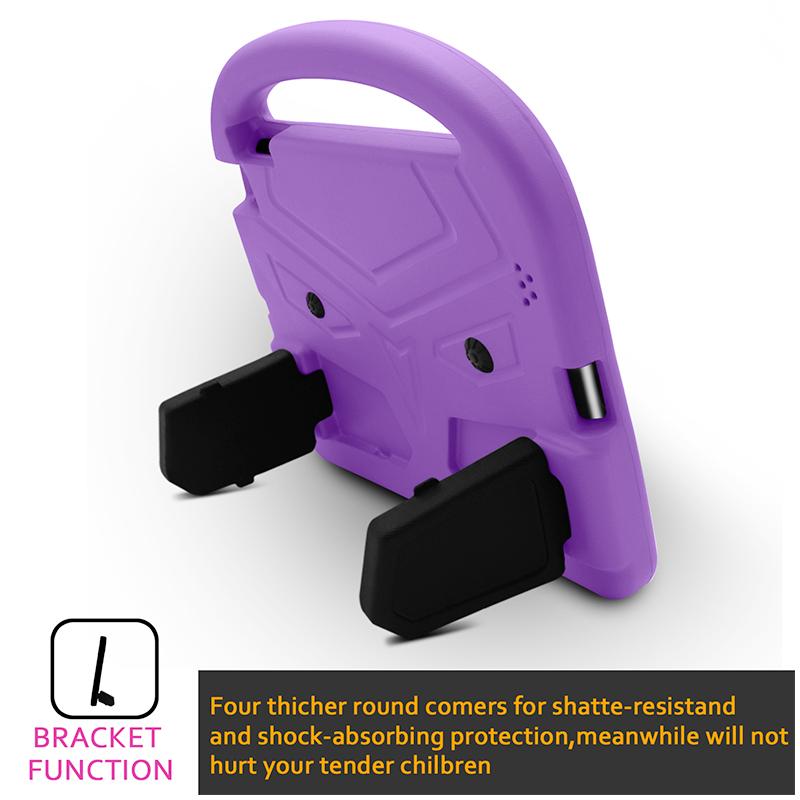 iPad 2/3/4 Shockproof EVA Foam Case Back Cover with Kickstand - Purple