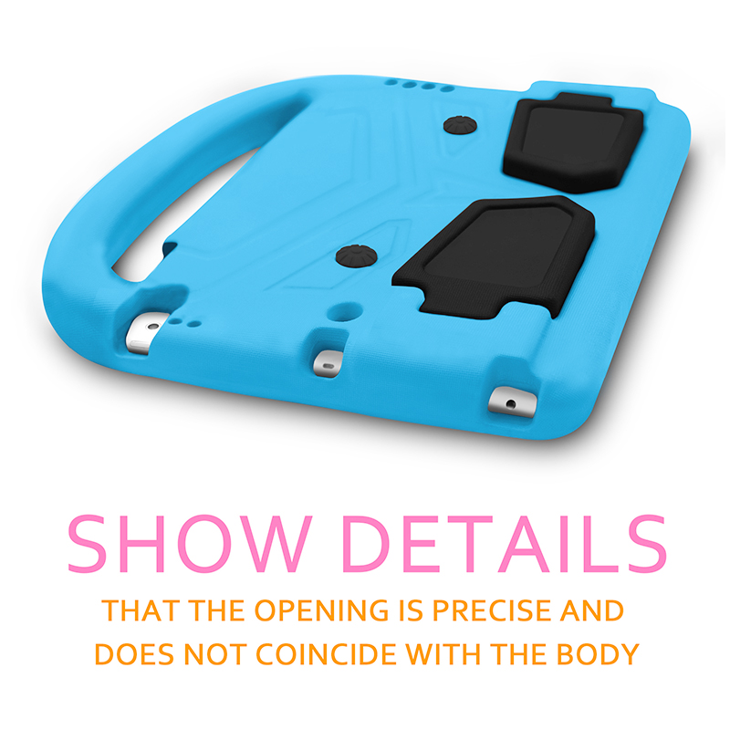 Shockproof EVA Foam Stand Case Cover with Handle for Apple iPad Pro 9.7 - Blue