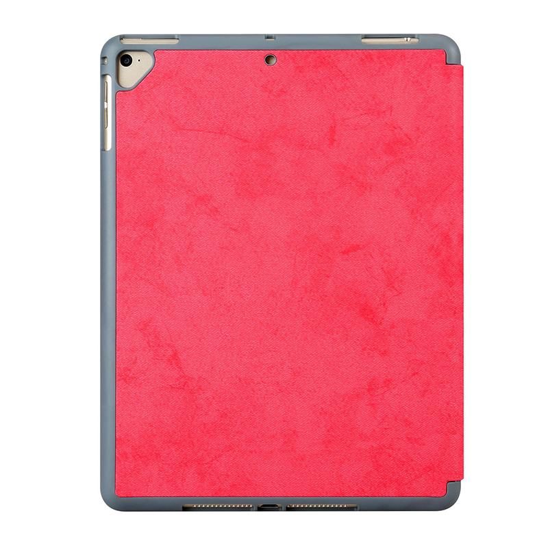 Ultra-Thin Universal Soft PU Leather Stand Cover Case With Pen Slot for iPad 2018 2017 9.7 - Red