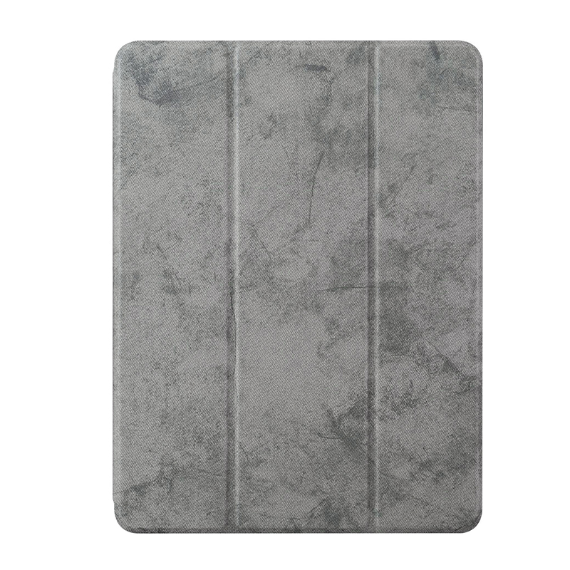 Ultra-Thin Universal Soft PU Leather Stand Cover Case With Pen Slot for iPad 2018 2017 9.7 - Grey