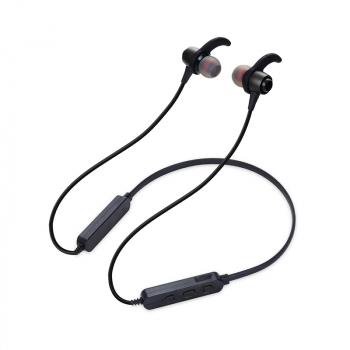 Metal Magnetic Wireless Bluetooth Earphone Stereo Neckband Sport Headphone Headset - Black