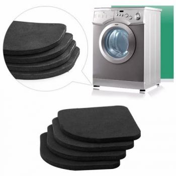 4 x Anti-Vibration Noise Reducing Shock Absorbent Washing Machine Pads Refrigerator Anti-Slip Mat