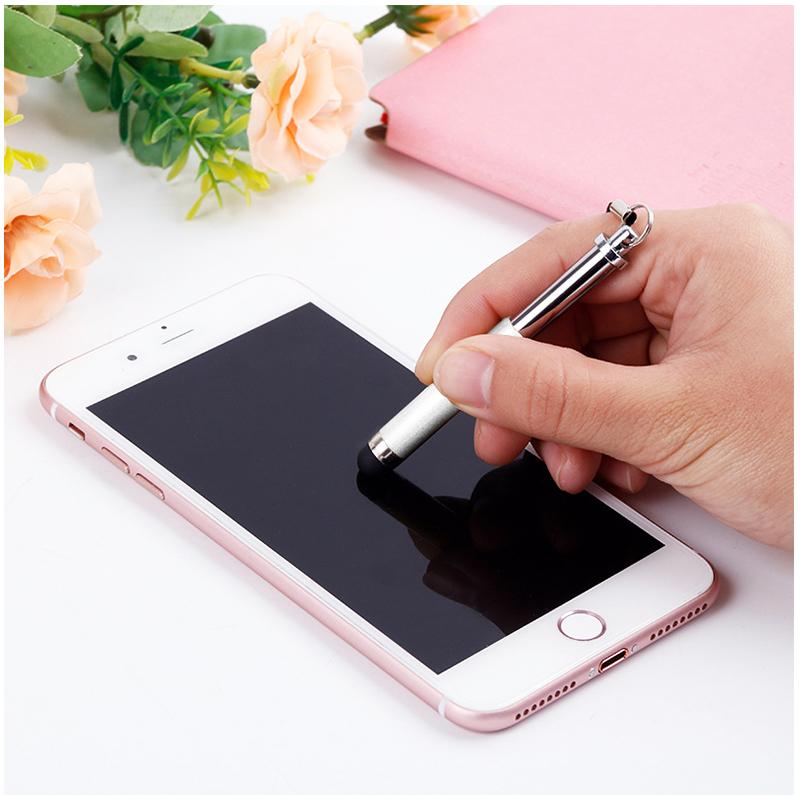 Mini Telescopic Metal Touch Screen Stylus Pen Capacitive Pen for Mobile Phone Tablet - White