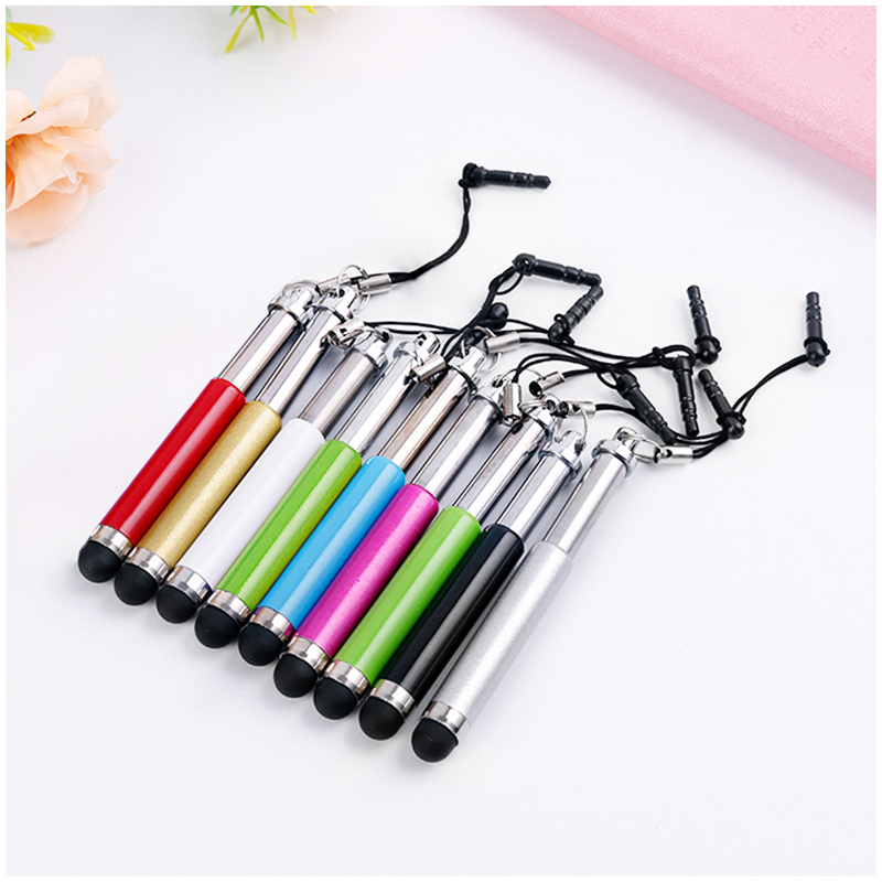Mini Telescopic Metal Touch Screen Stylus Pen Capacitive Pen for Mobile Phone Tablet - Red