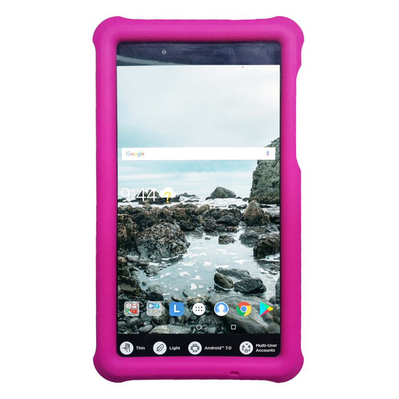 Tablet Protective Case Shock Absorption Cover for Lenovo Tab 7 TB-7304 - Hot Pink