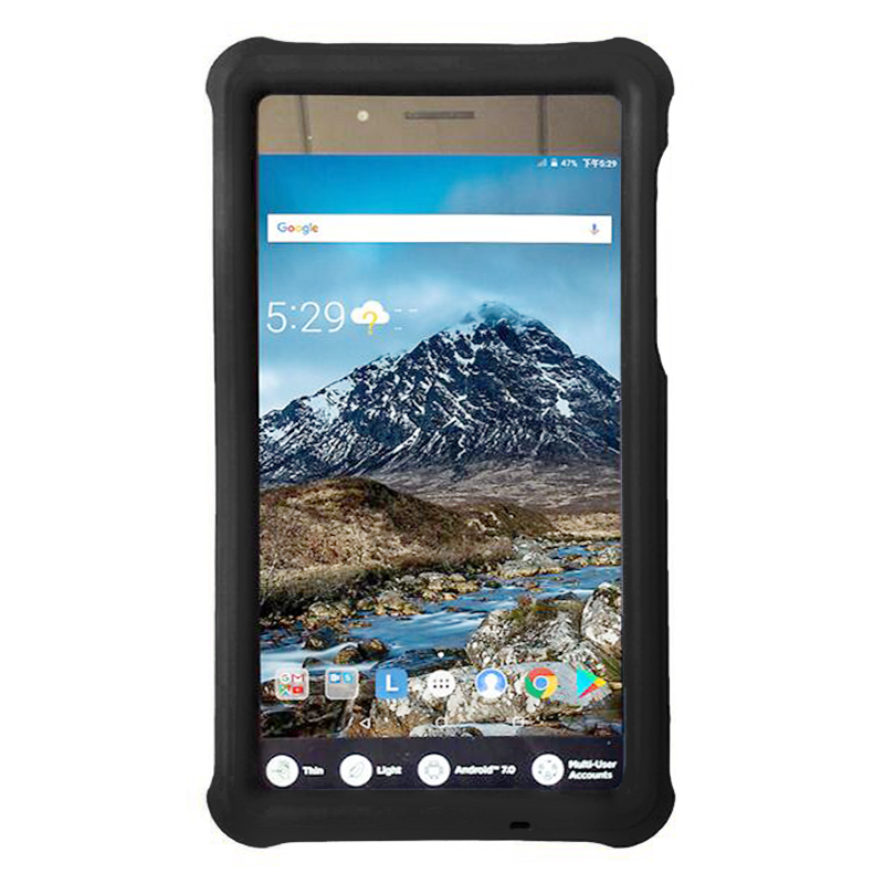Tablet Protective Case Shock Absorption Cover for Lenovo Tab 7 TB-7304 - Black