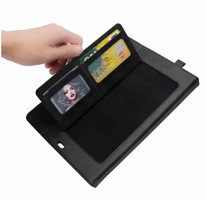 Universal Horizontal Flip Double Holder PU Case with Holder Card Slot Photo Frame for New iPad Pro 11'(2018) - Black