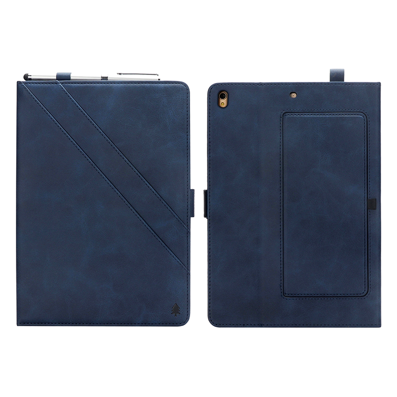 Horizontal Flip Stand Leather Case with Card Slot Photo Frame for iPad Pro 10.5'- Blue