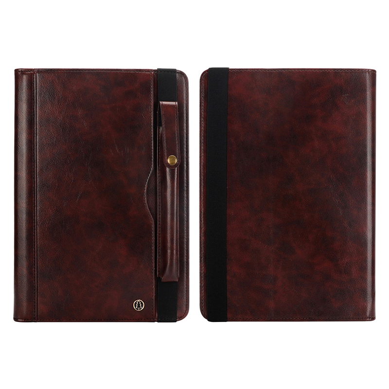 """Tablet PC Flip Wallet PU Leather Case Cover with Card Pen Slot Kickstand for iPad Pro 11"""" 2018 - Dark Brown"""