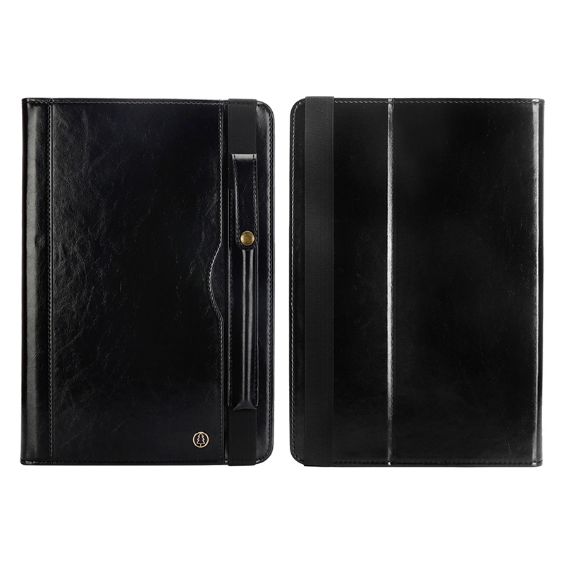 """Tablet PC Flip Wallet PU Leather Cover Case with Card Slot Pencil Holder Kickstand for iPad Pro 12.9"""" 2018 - Black"""