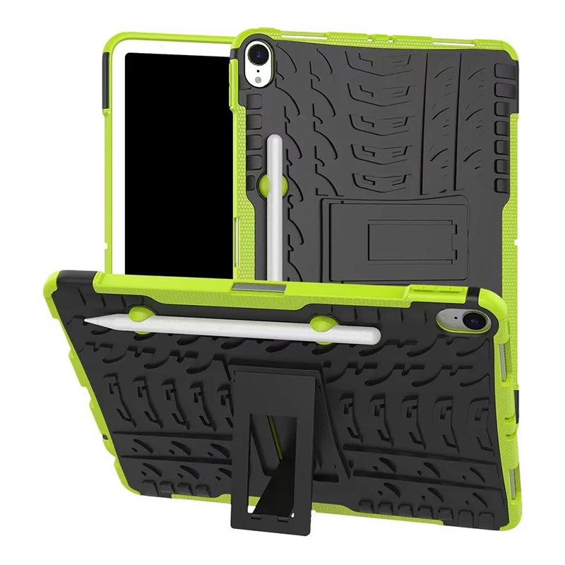 "Heavy Duty Hybrid PC + TPU Rugged Armor iPad Case Cover for iPad Pro 11"" - Green"