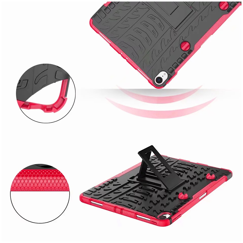 """Heavy Duty Hybrid PC + TPU Rugged Armor iPad Case Cover for iPad Pro 11"""" - Hot Pink"""