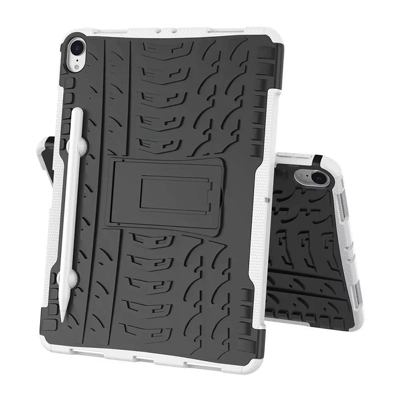 "Heavy Duty Hybrid PC + TPU Rugged Armor iPad Case Cover for iPad Pro 11"" - White"