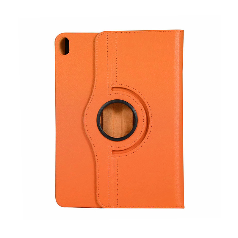 """360 Degree Rotating Smart Leather Stand Cover Case with Auto Sleep/Wake for Apple iPad Pro 12.9"""" 2018 - Orange"""