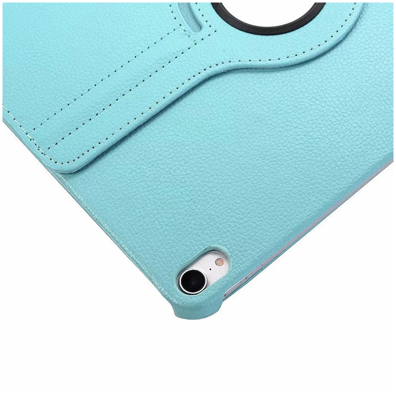 """360 Degree Rotating Smart Leather Stand Cover Case with Auto Sleep/Wake for Apple iPad Pro 12.9"""" 2018 - Light Blue"""