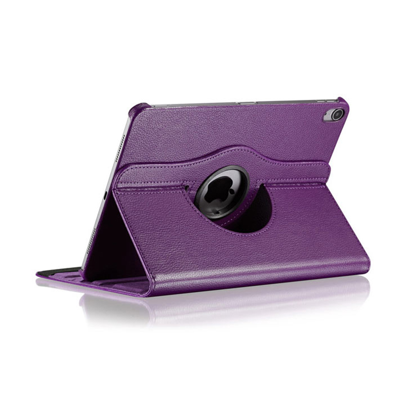 """360 Degree Rotating Smart Leather Stand Cover Case with Auto Sleep/Wake for Apple iPad Pro 12.9"""" 2018 - Purple"""
