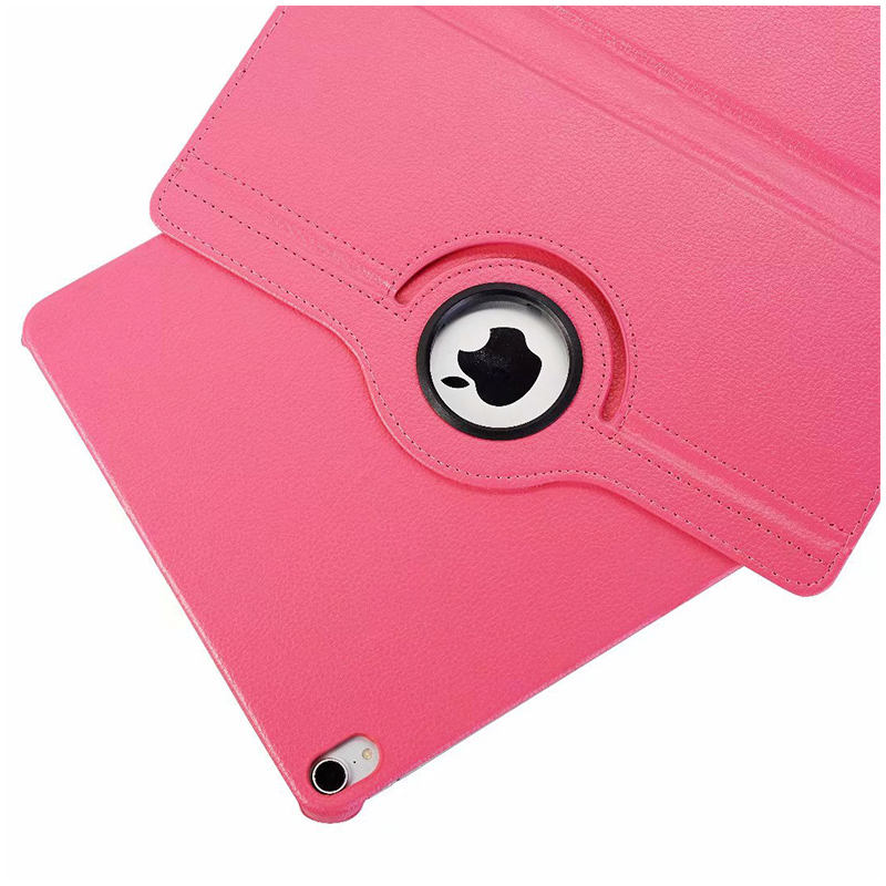 """360 Degree Rotating Smart Leather Stand Cover Case with Auto Sleep/Wake for Apple iPad Pro 12.9"""" 2018 - Hot Pink"""
