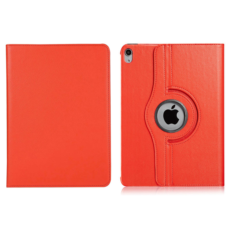 """360 Degree Rotating Smart Leather Stand Cover Case with Auto Sleep/Wake for Apple iPad Pro 12.9"""" 2018 - Red"""