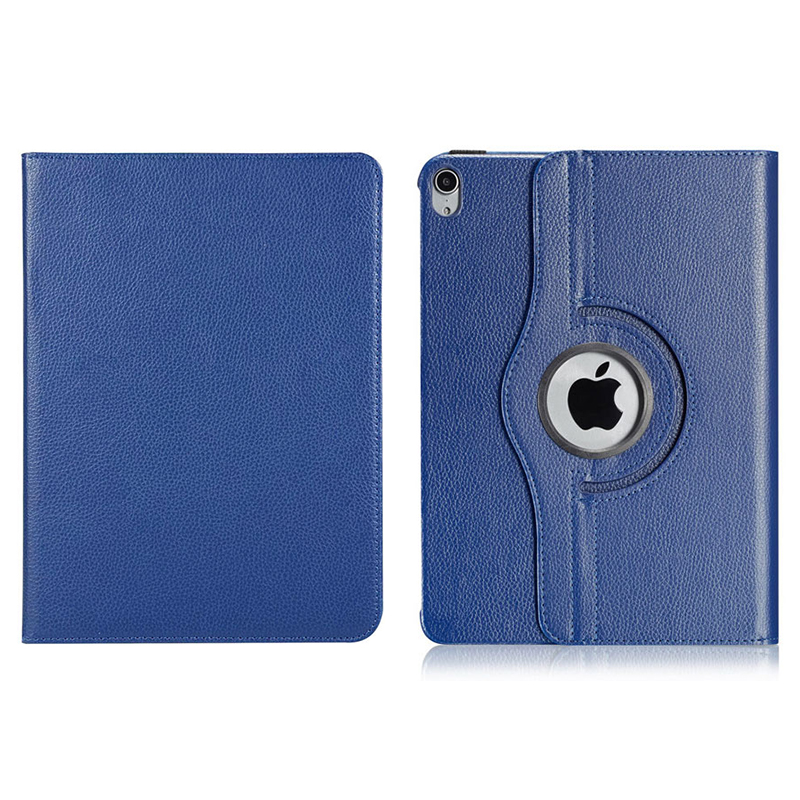 """360 Degree Rotating Smart Leather Stand Cover Case with Auto Sleep/Wake for Apple iPad Pro 12.9"""" 2018 - Dark Blue"""
