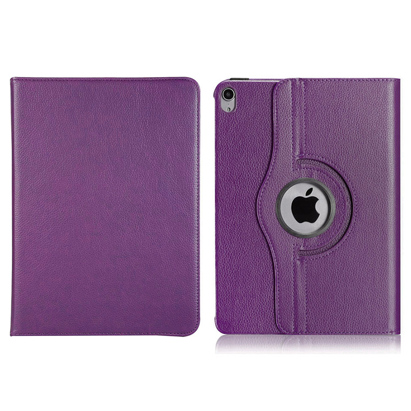 """360 Degree Rotating Smart PU Stand Cover Case with Auto Sleep/Wake Function for Apple iPad Pro 11"""" 2018 - Purple"""