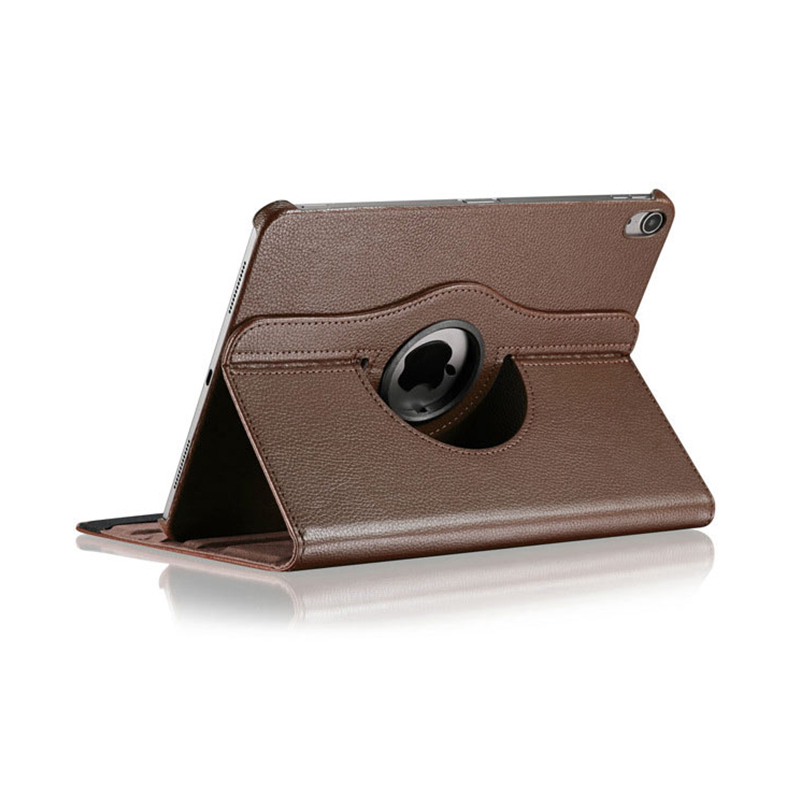 """360 Degree Rotating Smart PU Stand Cover Case with Auto Sleep/Wake Function for Apple iPad Pro 11"""" 2018 - Brown"""